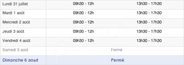horaires d'ouverture de la Mairie De Saint-Lyé