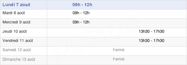 horaires d'ouverture de la Mairie De Savières