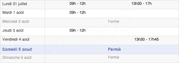 horaires d'ouverture de la Mairie De Clérey