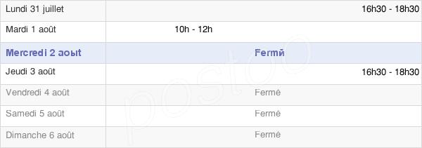 horaires d'ouverture de la Mairie De Vaudes