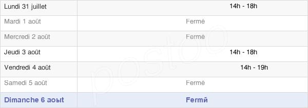 horaires d'ouverture de la Mairie De Saint-Benoit-Sur-Seine