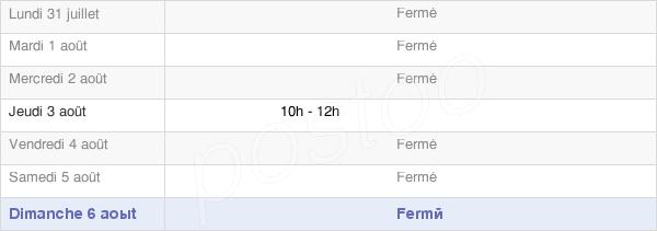 horaires d'ouverture de la Mairie De Champ-Sur-Barse
