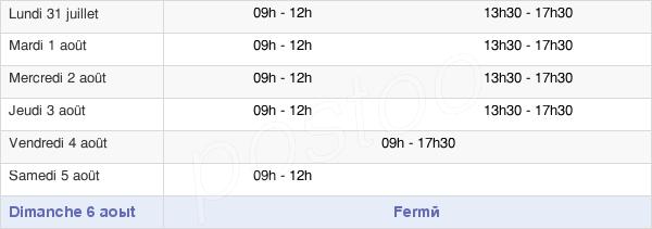 horaires d'ouverture de la Mairie De La Chapelle-Saint-Luc