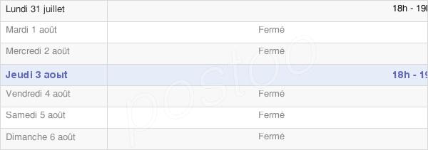 horaires d'ouverture de la Mairie De Précy-Saint-Martin
