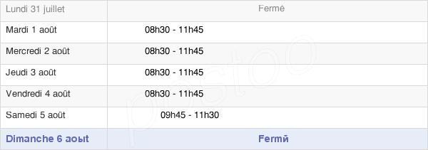 horaires d'ouverture de la Mairie D'Orvilliers-Saint-Julien