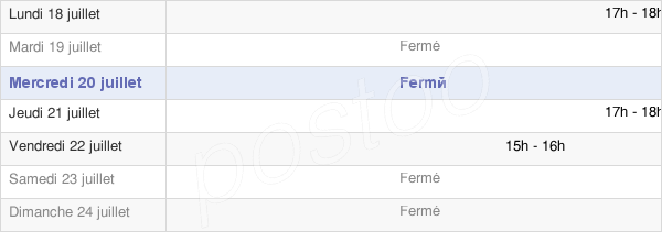 horaires d'ouverture de la Mairie De Châtres