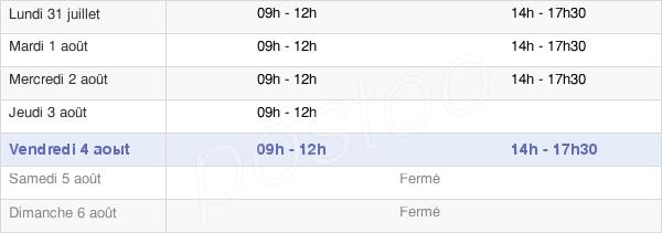 horaires d'ouverture de la Mairie De Pont-Sur-Seine