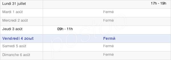 horaires d'ouverture de la Mairie De Saint-Loup-De-Buffigny