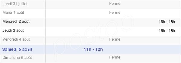 horaires d'ouverture de la Mairie De Faux-Villecerf