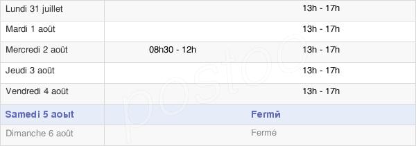 horaires d'ouverture de la Mairie De Barberey-Saint-Sulpice
