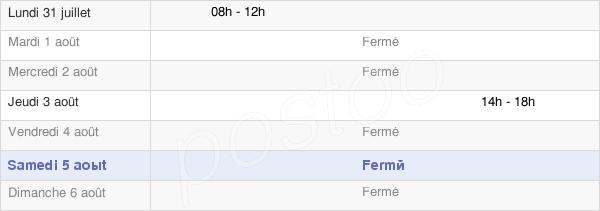 horaires d'ouverture de la Mairie De Droupt-Sainte-Marie