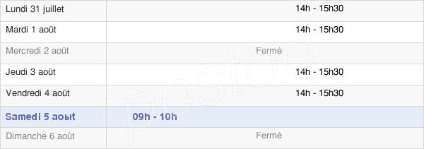 horaires d'ouverture de la Mairie Du Mériot