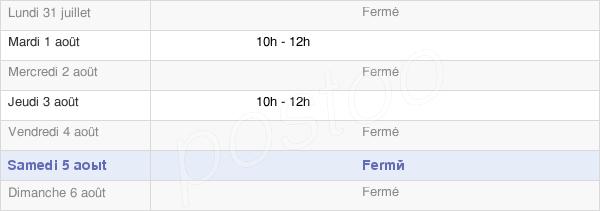 horaires d'ouverture de la Mairie D'Argançon