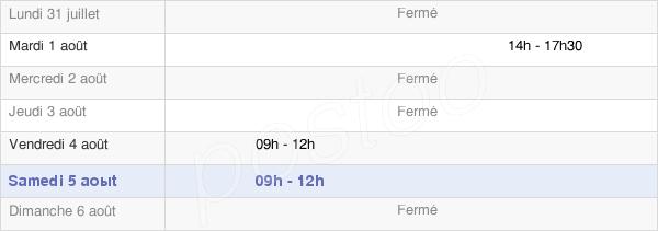 horaires d'ouverture de la Mairie De Doux