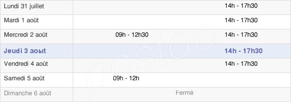 horaires d'ouverture de la Mairie De Chizé