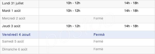 horaires d'ouverture de la Mairie De Le Rétail