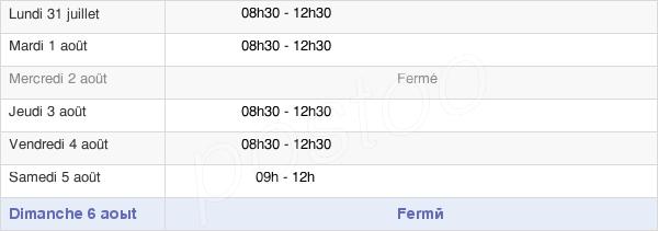 horaires d'ouverture de la Mairie De La Ferrière En Parthenay