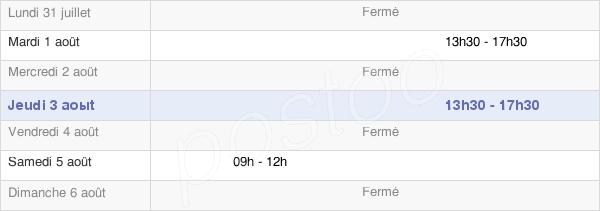 horaires d'ouverture de la Mairie De Vanzay