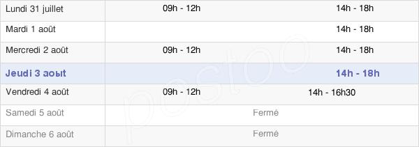 horaires d'ouverture de la Mairie De La Peyratte
