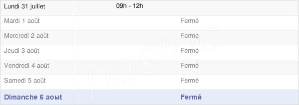 horaires d'ouverture de la Mairie De Vouhé