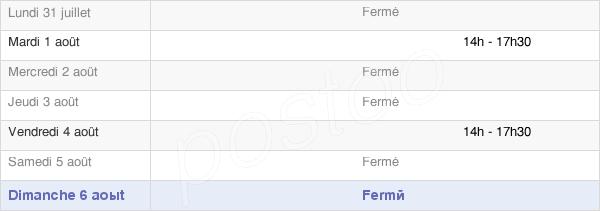 horaires d'ouverture de la Mairie De Saint Germier