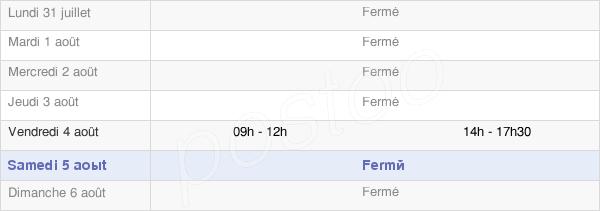 horaires d'ouverture de la Mairie De Marigny