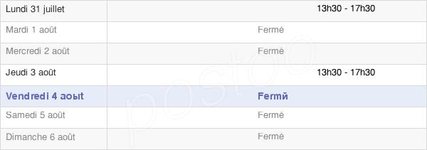horaires d'ouverture de la Mairie De Saint-Etienne-La-Cigogne