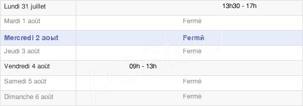 horaires d'ouverture de la Mairie Des Groseillers