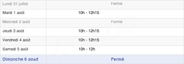horaires d'ouverture de la Mairie De Montravers