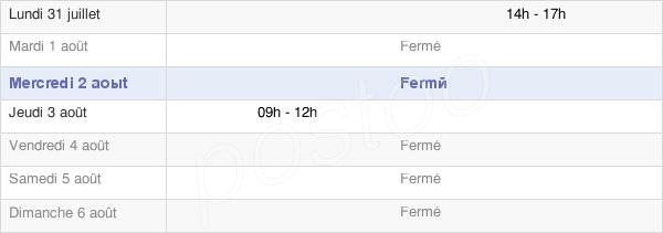 horaires d'ouverture de la Mairie De Sompt