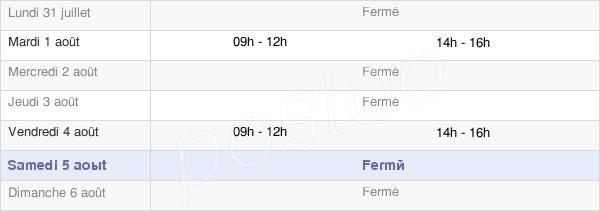 horaires d'ouverture de la Mairie De Geay