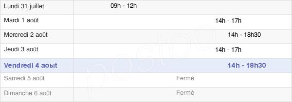 horaires d'ouverture de la Mairie De François