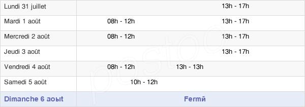 horaires d'ouverture de la Mairie De La Crèche