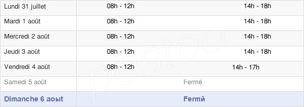horaires d'ouverture de la Mairie De Saint-Aubin-Le-Cloud