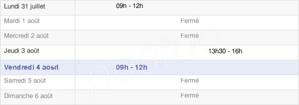 horaires d'ouverture de la Mairie De Saint-Cyr-La-Lande