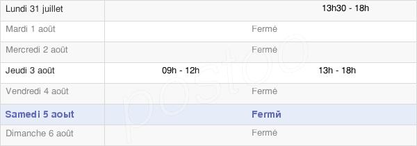 horaires d'ouverture de la Mairie Des Fosses