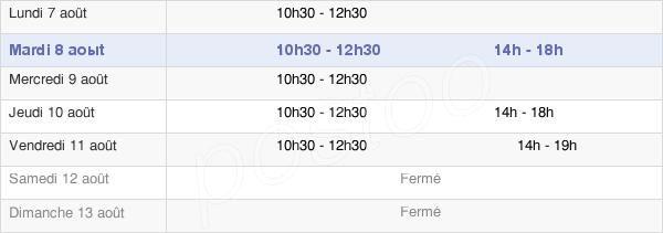 horaires d'ouverture de la Mairie De Combrand