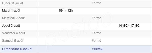 horaires d'ouverture de la Mairie De Saurais