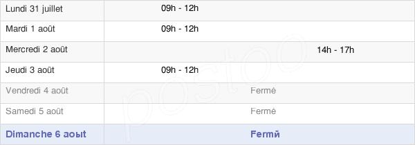 horaires d'ouverture de la Mairie D'Arçais