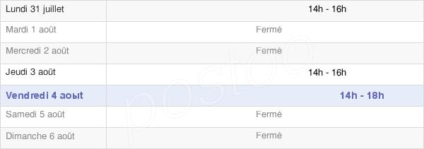 horaires d'ouverture de la Mairie De Saint-Paul-En-Gâtine
