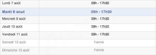 horaires d'ouverture de la Mairie De Bressuire