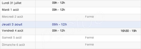horaires d'ouverture de la Mairie De Moutiers-Sous-Chantemerle