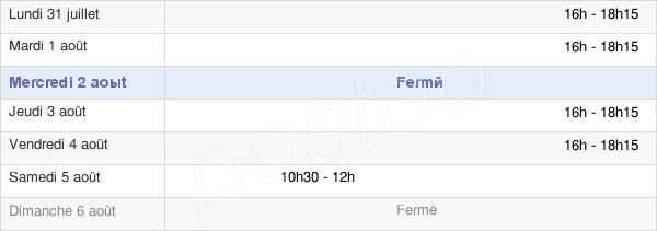 horaires d'ouverture de la Mairie De Chantecorps