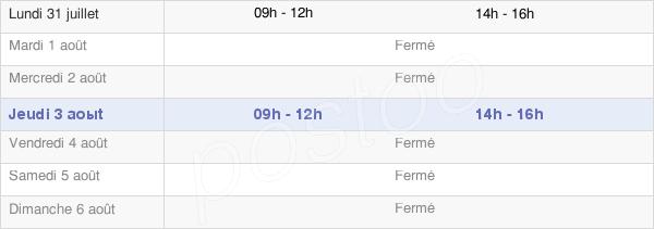 horaires d'ouverture de la Mairie De Pierrefitte