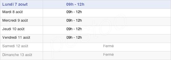 horaires d'ouverture de la Mairie De Fenioux