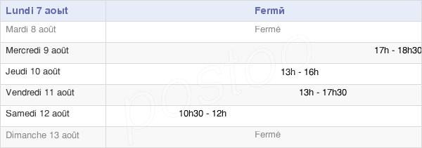 horaires d'ouverture de la Mairie De Brûlain