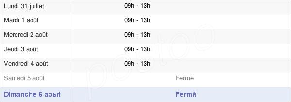horaires d'ouverture de la Mairie De Saint-Vincent-La-Châtre