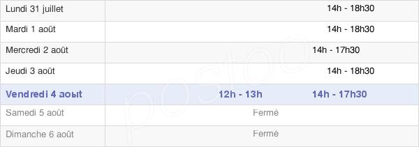 horaires d'ouverture de la Mairie De Vallans