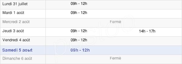 horaires d'ouverture de la Mairie De Mazières-En-Gâtine