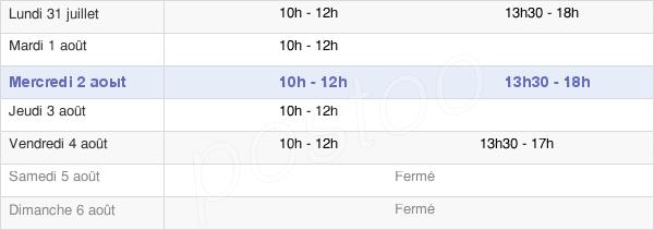 horaires d'ouverture de la Mairie De L'Absie